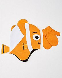 Baby Finding Nemo Hat and Mittens Set