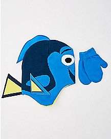Baby Finding Dory Hat and Mittens Set