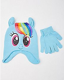 Baby Rainbow Dash My Little Pony Hat and Gloves Set