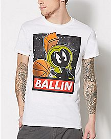 Marvin The Martian Ballin Looney Tunes T Shirt