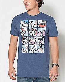 Ren and Stimpy Grid T Shirt