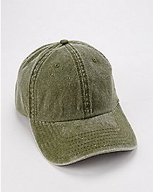 Olive Pigment Dyed Dad Hat