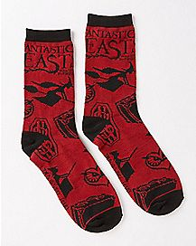Fantastic Beasts And Where To Find Them Crew Socks
