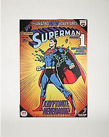 Light-Up Superman Wall Art DC Comics