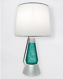Silver and Teal Bright Source Lava Lamp - 18.5 Inch