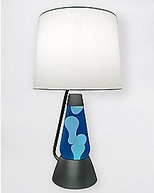 Blue and White Bright Source Lava Lamp - 18.5 Inch