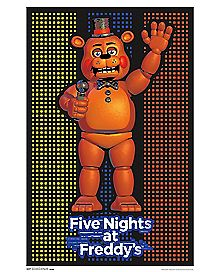 Freddy Blacklight Poster - Five Nights At Freddy's