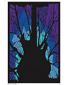 Guitar Blacklight Poster
