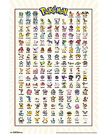 Pokemon Kanto Grid Poster