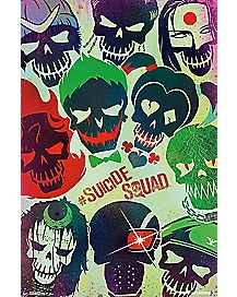 Suicide Squad Skull Faces Poster
