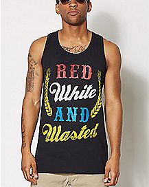 Red White and Wasted Tank Top