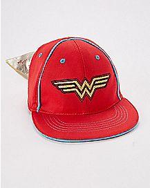 Wonder Woman Caped Baby Hat - DC Comics