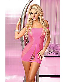 Seamless Fishnet Tank Dress