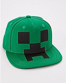 Creeper Minecraft Snapback Hat