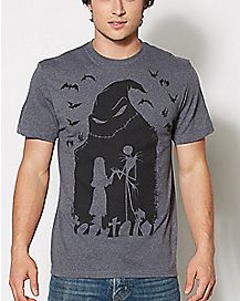 Silhouette Jack Skellington The Nightmare Before Christmas T Shirt