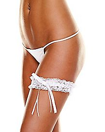 White Lace Garter