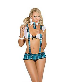 Plaid Naughty School Girl Outfit