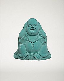 Blue Laughing Buddha Figurine