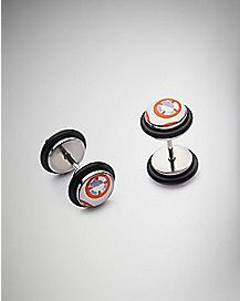 BB8 Star Wars Faux Plug Earrings - 18 Gauge