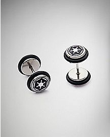 Imperial Army Star Wars Faux Plug Earrings - 18 Gauge