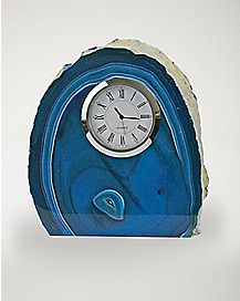 Blue Agate Clock