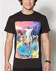Jesus Dinosaur Plus Size T Shirt