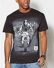 Motorcycle Daryl The Walking Dead T Shirt