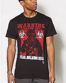 Warning Infected Zone The Walking Dead T Shirt