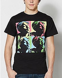 Grid Pop Art Tupac T Shirt