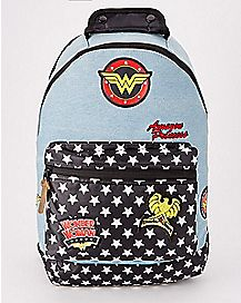 Denim Wonder Woman Backpack - DC Comics