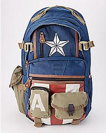 Military Captain America Backpack - Marvel Comics