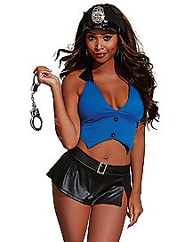 Police Patrol Vest and Skirt Set