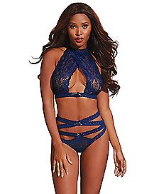 Galloon Lace Bralette and Panties Set