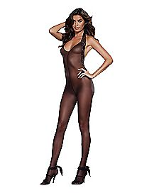 Sheer Halter Bodystocking