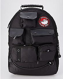 Black Built Up Backpack