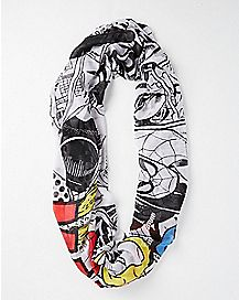 Marvel Comics Print Scarf