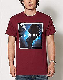 Chiefin Smoking Girl T Shirt