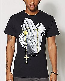 Praying Hands Blessed T Shirt