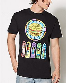 Stained Glass Bob's Burgers T Shirt