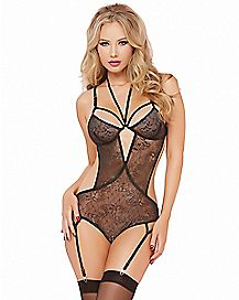 Inescapable Floral Lace Teddy