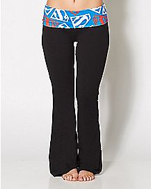 Fold Over Superman Yoga Pants - DC Comics