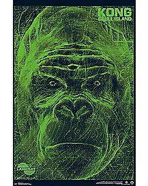 Landsat Scan Poster - Kong Skull Island