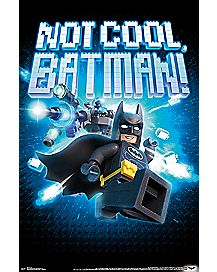 Not Cool Batman Poster - The LEGO Batman Movie