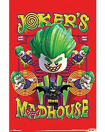 Joker's Madhouse Poster - Lego Batman