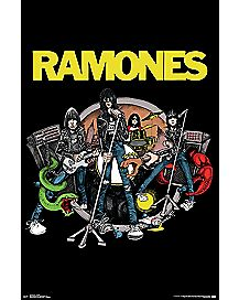 Cartoon Ramones Poster
