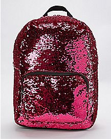Silver and Pink Magic Sequin Backpack