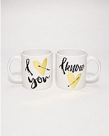 Love You I Know Mug 2 Pack - 22 oz