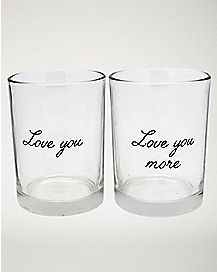 Love You More Glasses 2 Pack - 12 oz