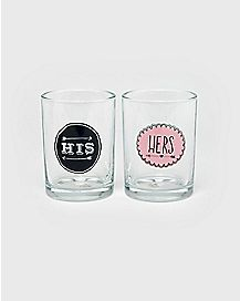 His and Her Arrows Glasses 2 Pack - 12 oz