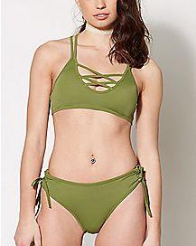 Strappy Bikini Swimsuit